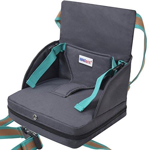 Infantastic Sitzerhöhung für Kinder von 6 bis 18 Monate bis zu 23 cm max. Traglast von 15 kg mit Gurten aus strapazierfähiger Baumwolle - Aufblasbare Stuhl Cafe