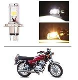 #4: AutoStark Bike CYT Double Sided Headlight LED H4 White and Yellow- Yamaha RX 100
