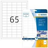 Herma 4388 Tiefkühletiketten für Gefriergut (38,1 x 21,2 mm auf DIN A4 Papier matt) 1.625 Stück auf 25 Blatt, weiß, bedruckbar, selbstklebend