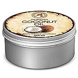 Kokosöl Kaltgepresst nativ 450 ml - Cocos Nucifera - Indonesien - rein und natürlich - Kokosnussöl - Unraffiniert - Körperbutter - Intensive Pflege für Gesicht - Körper - Haar - Körperpflege