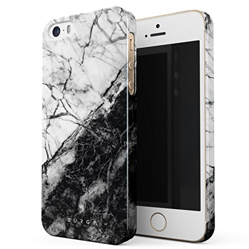Cover Iphone 5 5s Se Nero Marmo Burga Black Marble Design