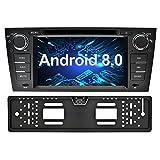 Ohok 7 Zoll Bildschirm 1 Din Autoradio Android 8.0.0 Oreo Octa Core 4G+32G Radio mit Navi Moniceiver DVD GPS Navigation Unterstützt Bluetooth DAB+ für BMW 3 Series/E90 E91 E92 E93 2006 - 2011 mit Rückfahrkamera