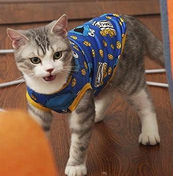 Jeephuer Charmant Vêtements pour Animaux de Compagnie Cat Couleur Gilet