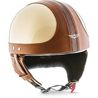 "MOTOHelmets D22 ""Vintage Creme"" · Brain-Cap · Halbschale Jet-Helm Motorrad-Helm Bobber · Fiberglas Schnellverschluss SlimShell Tasche XL (61-62cm)"