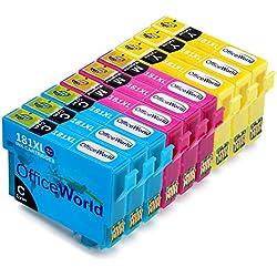 OfficeWorld Cartuchos de tinta para Epson 18XL, Alta Capacidad Compatible para Epson Expression Home XP-202 XP-305 XP-415 XP-412 XP-215 XP-312 XP-212 XP-102 XP-405 XP-205 XP-302 XP-402 XP-315 XP-405WH XP-30, (3 Cian, 3 Magenta, 3 Amarillo)