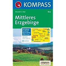 Mittleres Erzgebirge: Annaberg-Buchholz, Marienberg, Olbernhau. Wander- und Bikekarte. 1:50.000