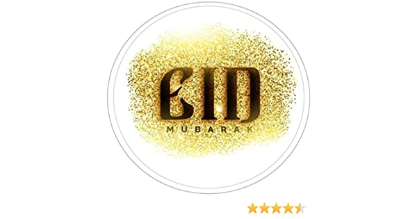 35 PERSONALISED  EID  MUBARAK 37mm  STICKER LABELS