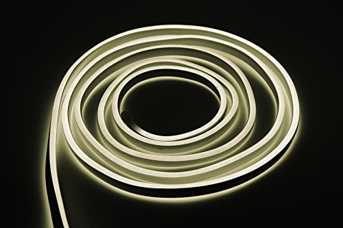 Bada Bing LED Neonlicht Schlauch Lichtschlauch Doppelseitig Lichterkette Lichtband Neutralweiß Kaltweiß Neonschlauch Neonband Band Ohne Lichtpunkt Durchgängig Leuchtend IP44 Neuheit Trend 05 -