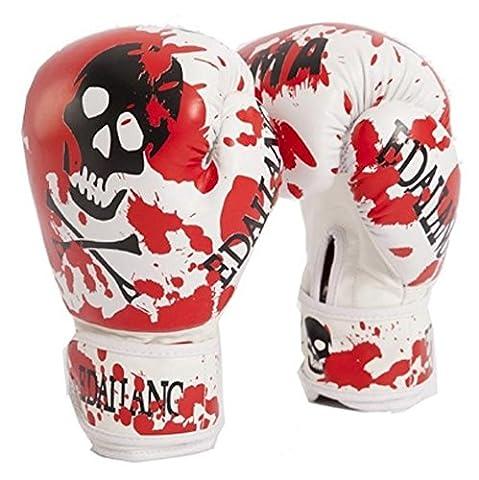 SaySure - Red Skulls Womens/Mens Boxing Gloves