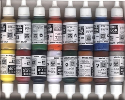 Best 2XVallejo Model Color Folkstone Basics Acrylic Paint Set – Assorted Colours (Pack of 16) Special