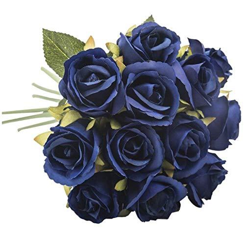 Gafagafa bouquet di rose a 12 teste in seta rosa per abiti da sposa per damigella d'onore decorazione della casa da giardino