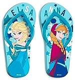 Frozen Die Eiskönigin Mädchen Flip Flop Zehentrenner Badeschuhe Badelatschen blau