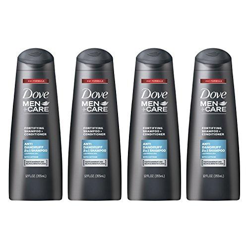 Dove Men+Care 2 in 1 Shampoo, Anti Dandruff 12 oz, 4 Count