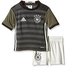 adidas DFB A Mini - Chándal para niño, color gris / blanco / negro, talla 104