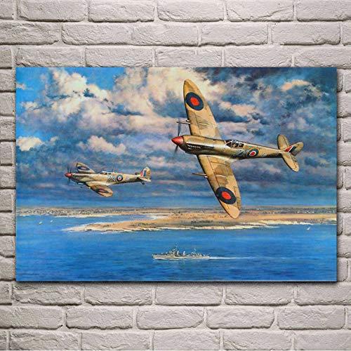 MISSOUL Cartel Impresiones Supermarine Retro avión
