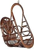 Novelty Cane Art J17FASHION Swing Chair (Brown)