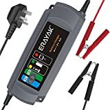 6A Car Battery Charger TUV GS Certified, ERAYAK 6V/12V Trickle Charger Maintainer