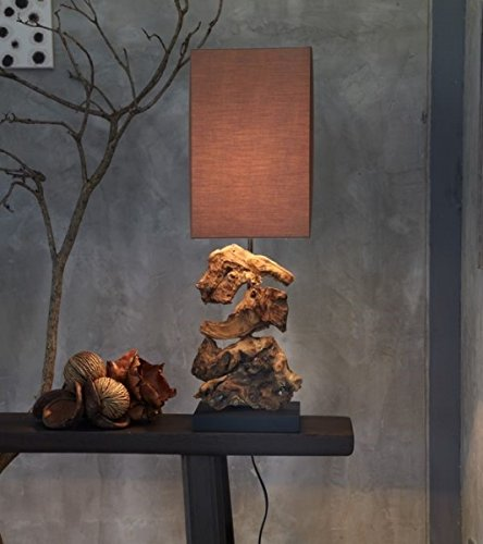 Designlampe aus Treibholz HIGHLAND dunkel, Höhe ca. 48 cm