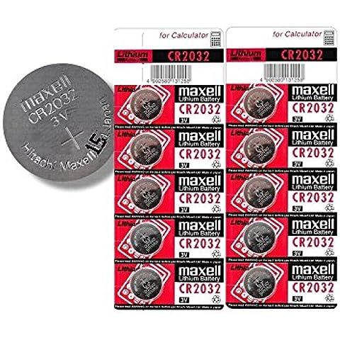Maxell CR2032pila de 3V Litio Pilas de botón (10unidades)