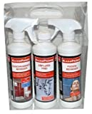 3 Stück Reiniger CleanPrince Badezimmer Bad Reinigungsset: Abflussfrei + Duschkabinenreiniger + Fugenreiniger für Bad WC Toilette reinigen Reiniger Hygienereiniger