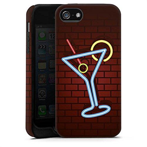 Apple iPhone 6 Housse Étui Silicone Coque Protection Cocktail Fête Néon Cas Tough terne