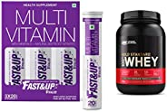 Fast&Up Vitalize Multivitamin Supplement 21 Vitamins And Minerals - 60 Tablets & Optimum Nutrition Gol