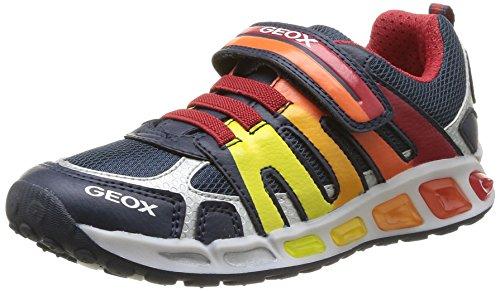 Geox  J Shuttle B A,  Sneaker bambino Blu (Bleu (Navy/Red))