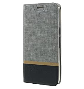 Tarkan Luxury Coolpad Note 5 Flip Cover: Leather Textured Back Stand Case with Card Slot [Grey]
