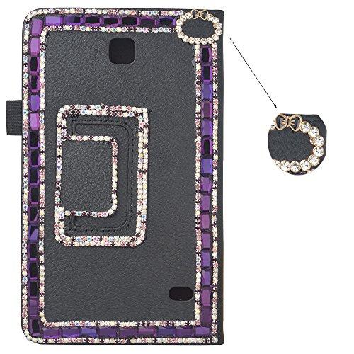 spritech (TM) 3D Luxus Bling Strass DESIGN Ultradünn Ständer Cover für Samsung Galaxy Tab 47.0T230, schwarz, Samsung Galaxy Tab 4 7.0 T230