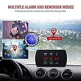 Universal coche HUD Head Up Display digital GPS velocímetro brújula aceleración prueba de freno prueba de sobrevelocidad alarma Pantalla LCD HD para todos los vehículos (GPS)