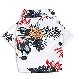 L-MEIQUN,Mode und Persönlichkeit Baumwolle und Leinen bedrucktes Hemd für Haustiere Ananas-Modell(Color:Multi-A,Size:die)
