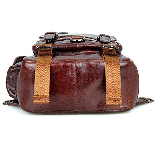 Rucksack Tote Frauen Weichem Bag Crossbody Rucksack Aus Elegante Einkaufstaschen Tote Große Tasche Leder Brown Office Retro Schultertasche Damen rXqEx7wHq