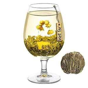 WELLTEA BLOSSOMING TEA SHELL PEARL FLOWERING GREEN TEA - 50G