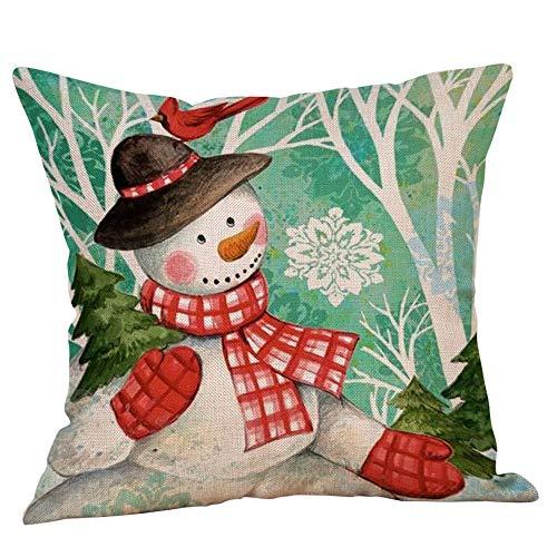 Amphia Art Magisch Hirsch Geweih Blühen Christmas Christmas Snowman Kissen Cover Werfen Kissen Tasche Sofa-Bett zu Hause Dekor(viele Größen und Farben) -