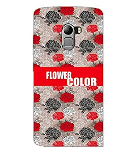 PrintDhaba Flowers D-2575 Back Case Cover for LENOVO VIBE K4 NOTE (Multi-Coloured)