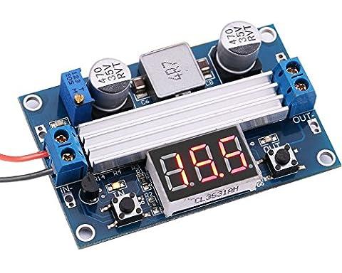 Yeeco 3.0-35V à 3.5-35V DC to DC DC / DC Boost réglable Converter Intensifier Alimentation Convert Conseil avec Red LED Numérique Voltmètre Display Voltage Regulator Volt Stabilisateur Réglementé Règlement de Voiture 3.7V à 5V 7.4V To12V 19V 24V pour ordinateur portable PDA Produits Numériques