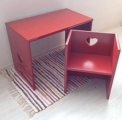 Escritorio + Silla En Rojo