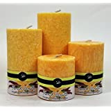 Scentiments Handcrafted - Sweet Vanilla- Scented Pillar Candles  Marble/ Crystal Pillar -Gift Item For Home Decore Set Of 4, Hand Crafted Candle