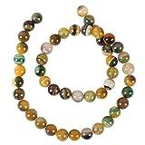 """Pandahall Precio del 1 Pieza Ágata piedra preciosa natural hebras de perlas ronda, teñido, amarilloverde sobre 49 unidades / cadena, 14.96"""""""