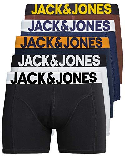 JACK & JONES Herren 5er Pack Boxershorts Mix Unterwäsche Mehrpack,Farb Mix 4,M