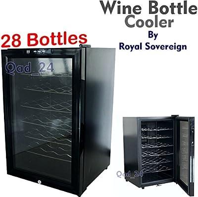 Royal Sovereign Wine Bottles Cooler Fridge For Chilled Drinks Under Table Kitchen Bar Restaurant (Holds 28 Bottles) from Royal Sovereign