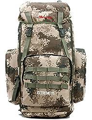 Camuflaje más 65L montañismo al aire libre doble doble bolso morral camping hombro mochila de senderismo , light green