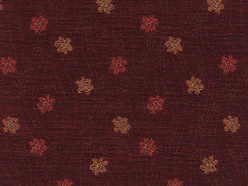 Landhausstil Möbelstoff Como Blume mit Fleckschutz Farbe wein (rot, dunkelrot, bordeaux) - Flachgewebe (Floral, Blume), Polsterstoff, Stoff, Bezugsstoff, Eckbank, Couch, Sessel, Hussen, Kissen -