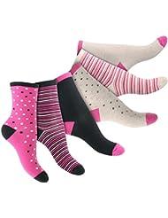 6 Paar süße Damen Thermo Vollfrottee Socken im 6farb-Pack - Komfortbund ohne Gummi - Top Qualität von celodoro