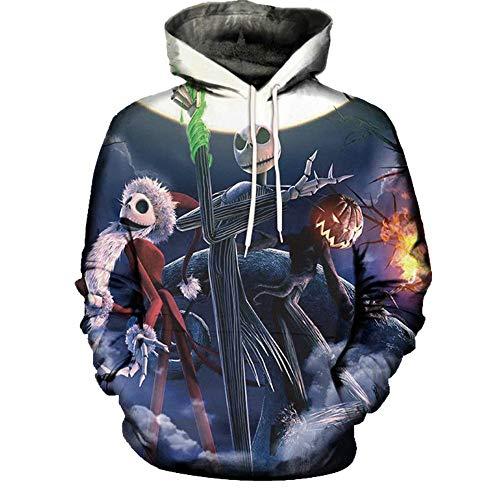 Kanpola Herren Kapuzenpullover Männer 3D Print Warme Dicken Schlank Halloween Hoodie Sweatshirt Sweatjacke Winterpullover Strickpullover Pullover mit ()