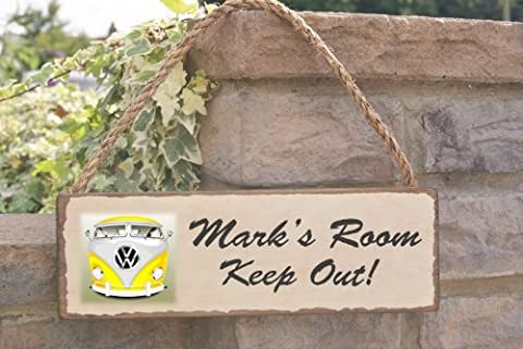 VW surf bus Bedroom man cave sign , can be personalised