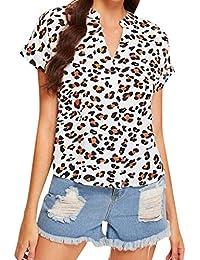 04fd01975fa9 Amazon.es: Blusas De Leopardo - Camisetas, tops y blusas / Mujer: Ropa