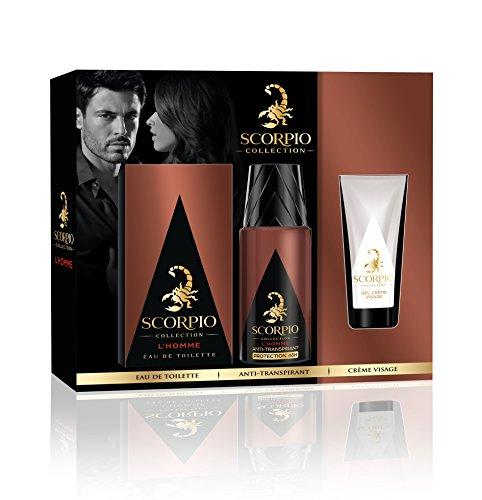 Deodorant Eau De Toilette (Scorpio Collection Menschenrechte Coffret D Eau de Toilette + Deodorant Verdampfer + Gel Creme für Gesicht 3teilig)