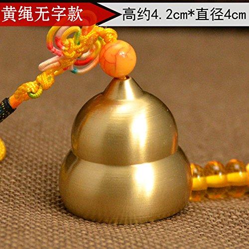 Hyazinthe BAGEHAN Zen Kupfer Kupfer Glocken Wind Chime Anhänger Tür Dekoration Shop Sicherheit Bell Auto Anhänger Schmuck Kürbis, C (Kürbis Glocken)