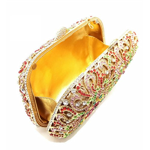Fascia Alta Borsa Di Modo Del Diamante Del Sacchetto Di Sera Banchetto Delle Donne OneColor